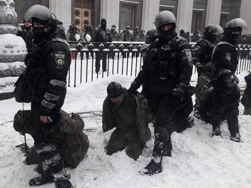 Задержанные активисты у Рады