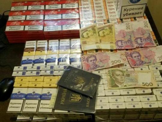 Изъятые у контрабандистов сигареты