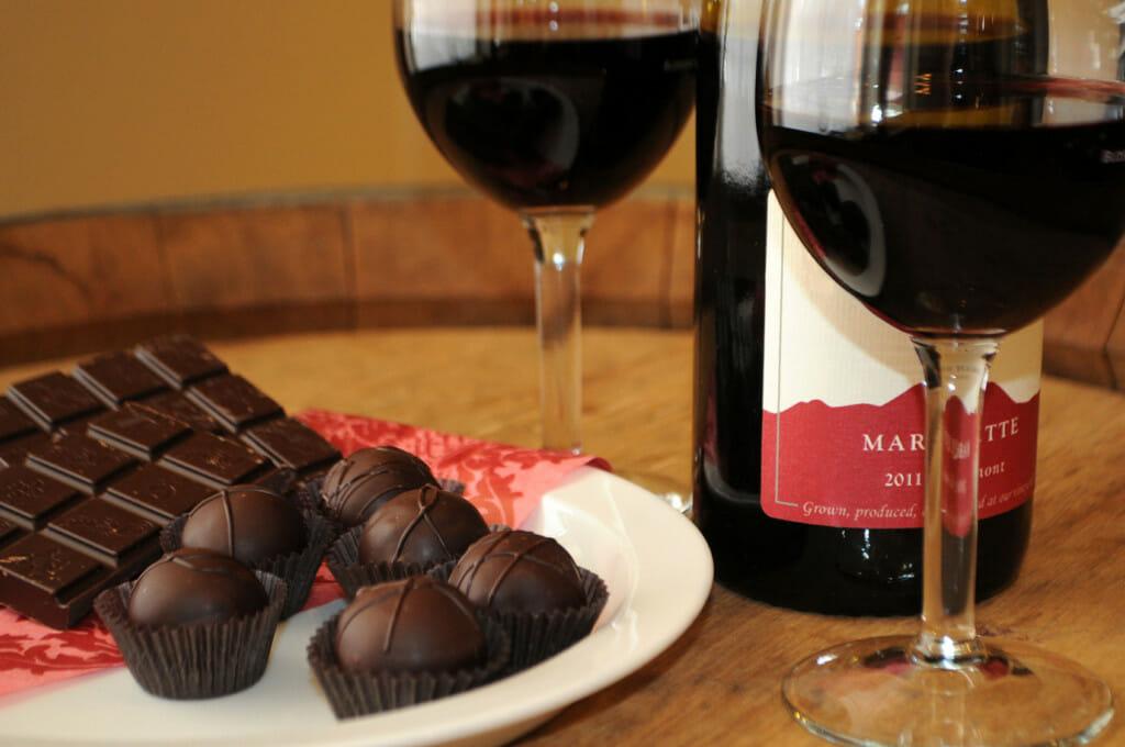 Красное вино и шоколад