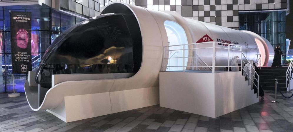 Пассажиры Hyperloop смогут видеть пейзажи.