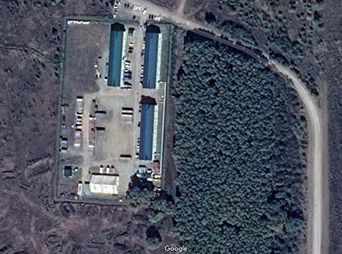 Лагерь ЧВК на Google Maps