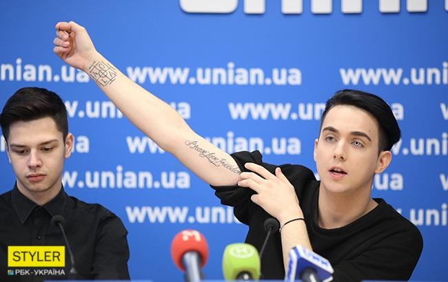 К Евровидению-2018 MELOVIN сделал себе знаковую татуировку. Фото: РБК-Украина