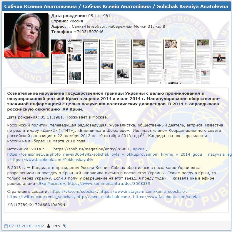 Ксению Собчак в