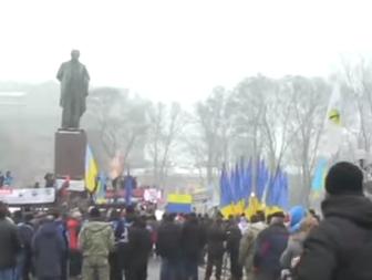 В центре Киева собрались сторонники Михеила Саакашвили