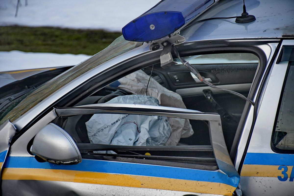 В Киеве в ДТП пострадали сотрудники Полиции охраны