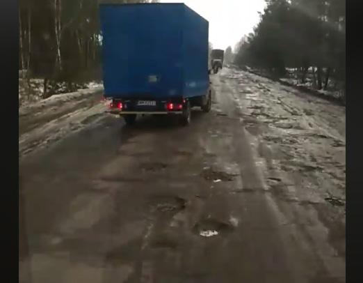 Опубликовано видео аварийной дороги на Ровенщине