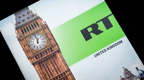 Логотип Russia Today на фоне Биг-Бена