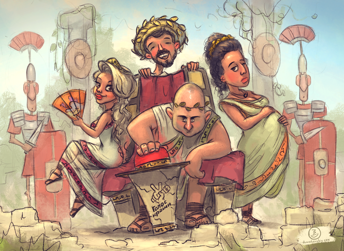 Украинский иллюстратор нарисовал забавную карикатуру