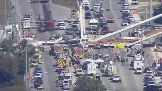 В Майами из-за обрушения моста есть жертвы