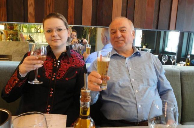 Сергей Скрипаль и его дочь Юлия.
