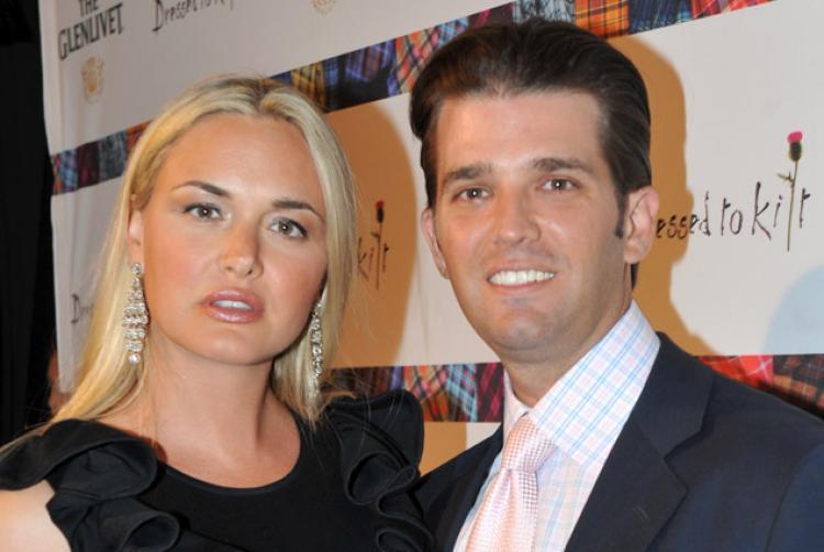 Дональд Трамп–младший с женой Ванессой