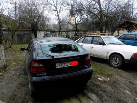 Результат нападения на авто в Берегово