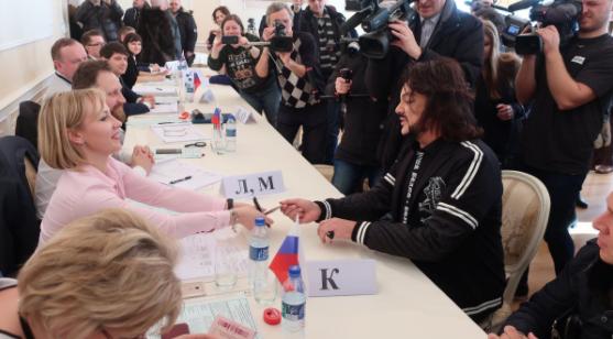 Российские знаменитости активно приняли участие в выборах президента России