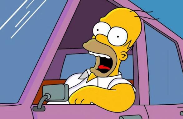 Права британского водителя на имя Симпсона шокировали полицейских