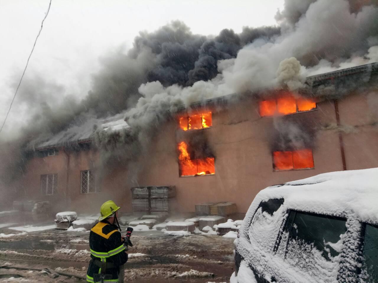 В Закарпатье пожар уничтожил торговый центр