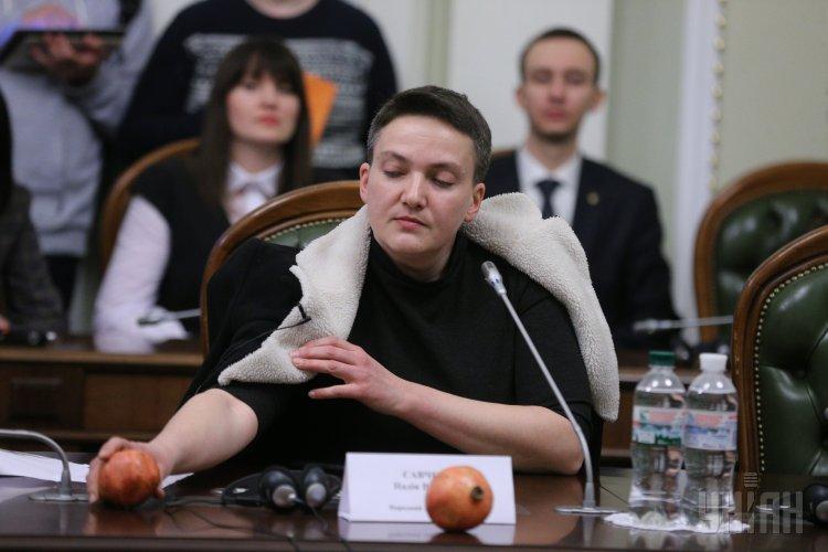 В Раду Савченко принесла гранаты.