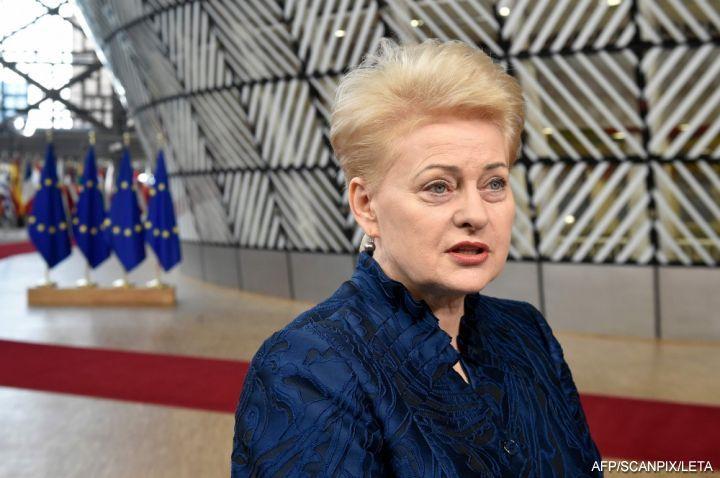 Президент Латвии Даля Грибаускайте