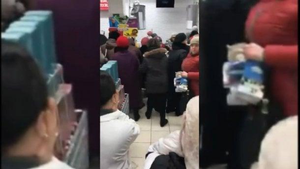 В России в супермаркете покупатели устроили бойню