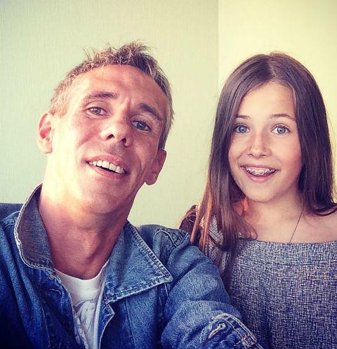 Панин с дочерью Анной
