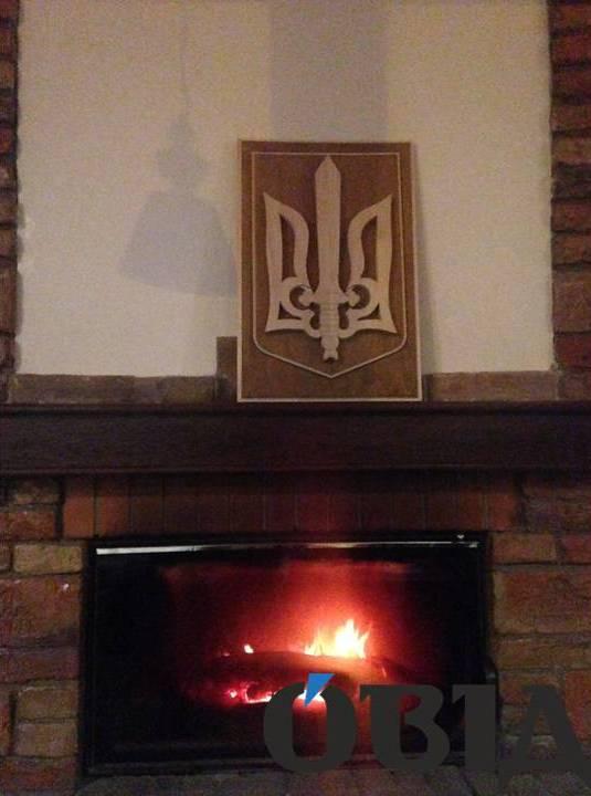 Новый герб в кафе Тернополя