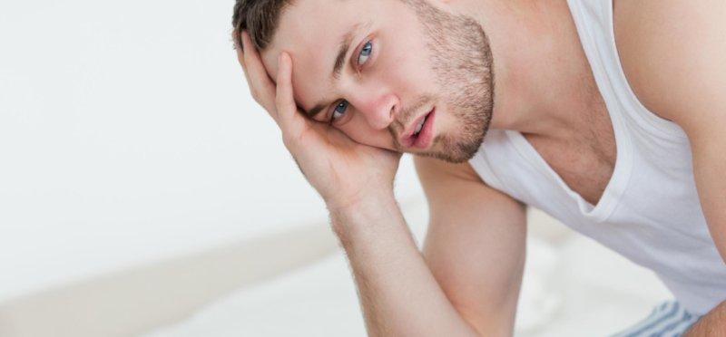 У мужчины быстрое семеизвержение в сексе