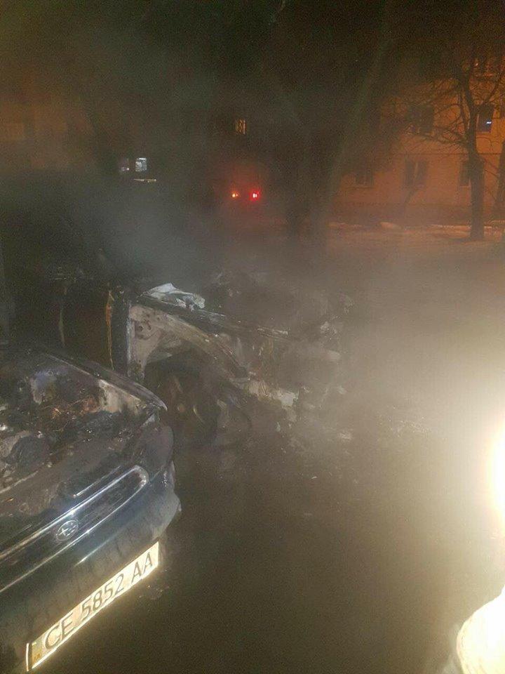 В Черновцах сожгли авто борца с коррупцией