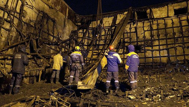 Сотрудники МЧС РФ завершили разбирать завалы сгоревшего ТРЦ в Кемерово
