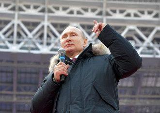 Действубщий президент РФ Владимир Путин.