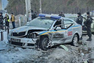 В результате ДТП в Киеве копы получили тяжелые травмы