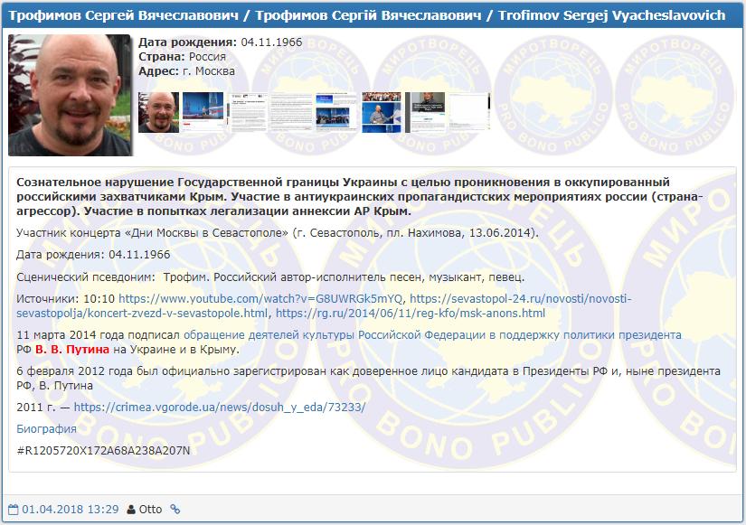 Сергей Трофимов (Трофим) попал в базу