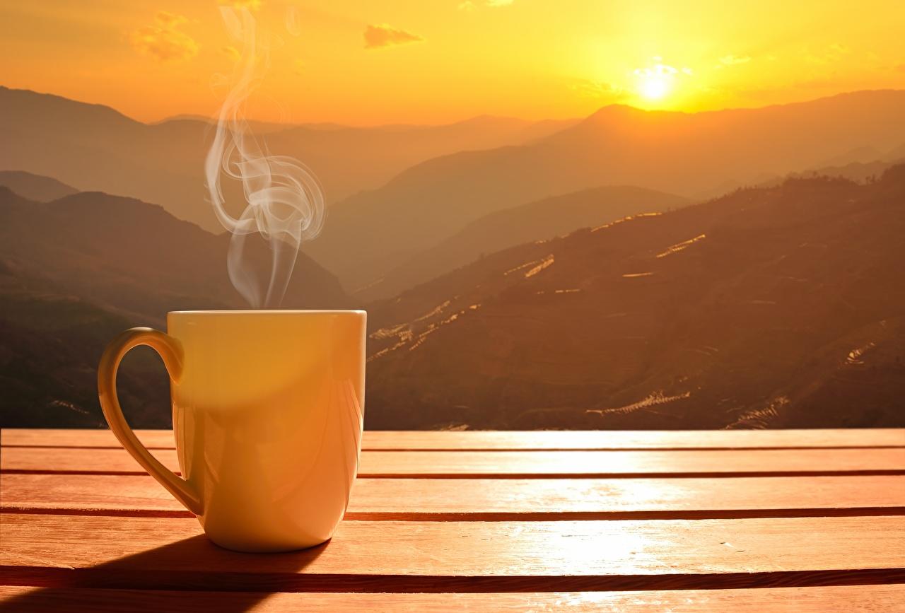 солнце_солнечно_погода_кофе_горы