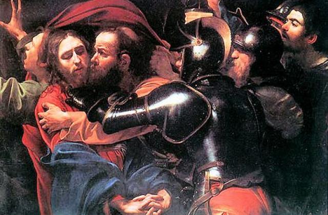 Взятие Христа под стражу, или Поцелуй Иуды. Караваджо