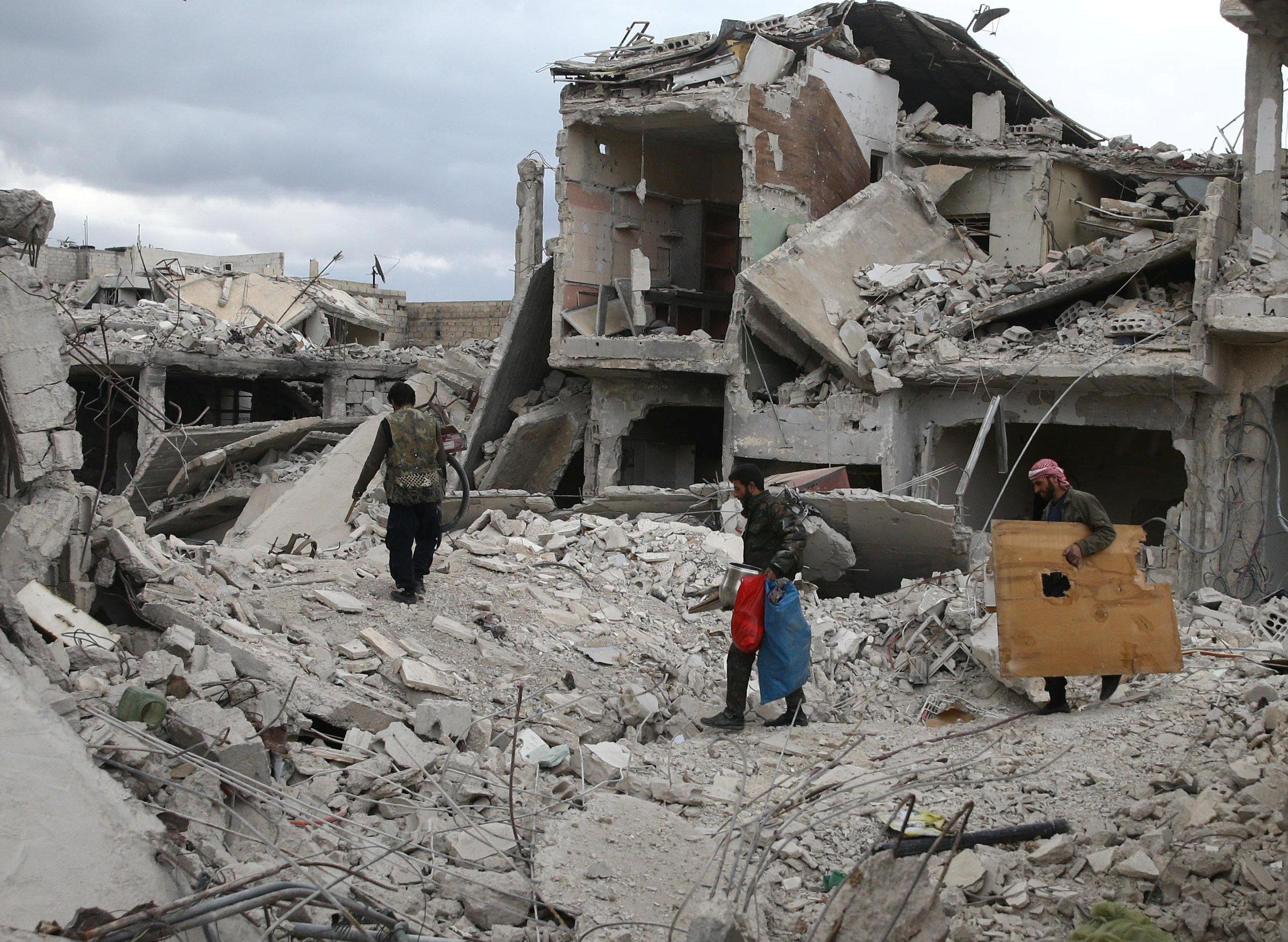 Разрушения в сирийской Думе