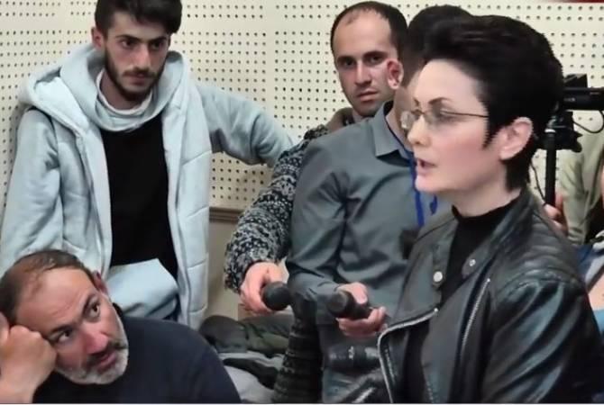 В Ереване протестующие захватили здание Общественного радио