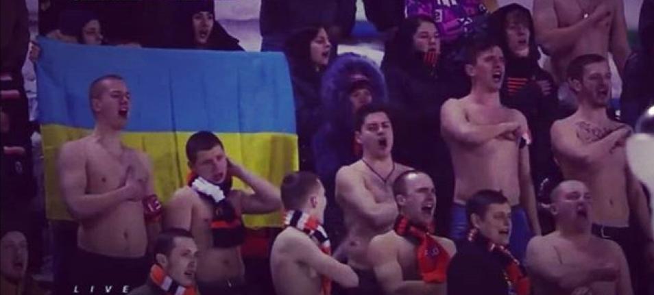 Донецкие ультрас не упускают случая продемонстрировать патриотизм