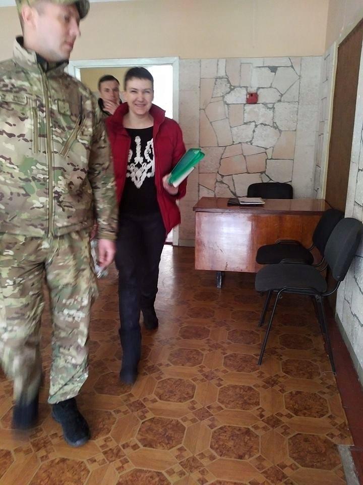 Надежда Савченко во время экспертизы