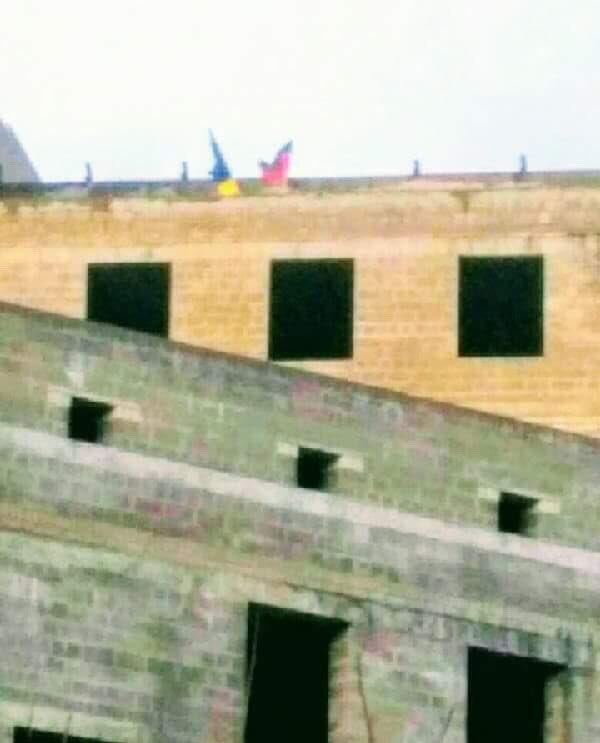 В центре Донецка недалеко от