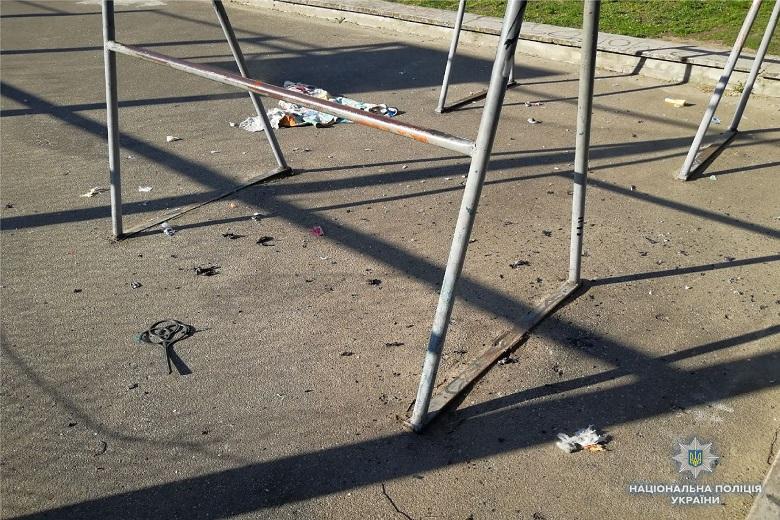 В Киеве на спортивной площадке был взрыв