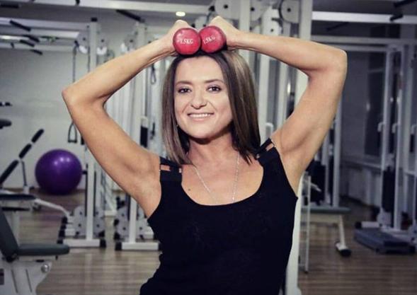 Наталья Могилевская позировала в спортзале
