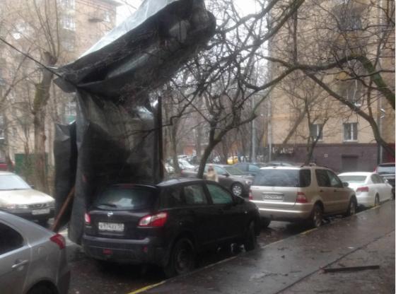 В Москве разбушевался ураган