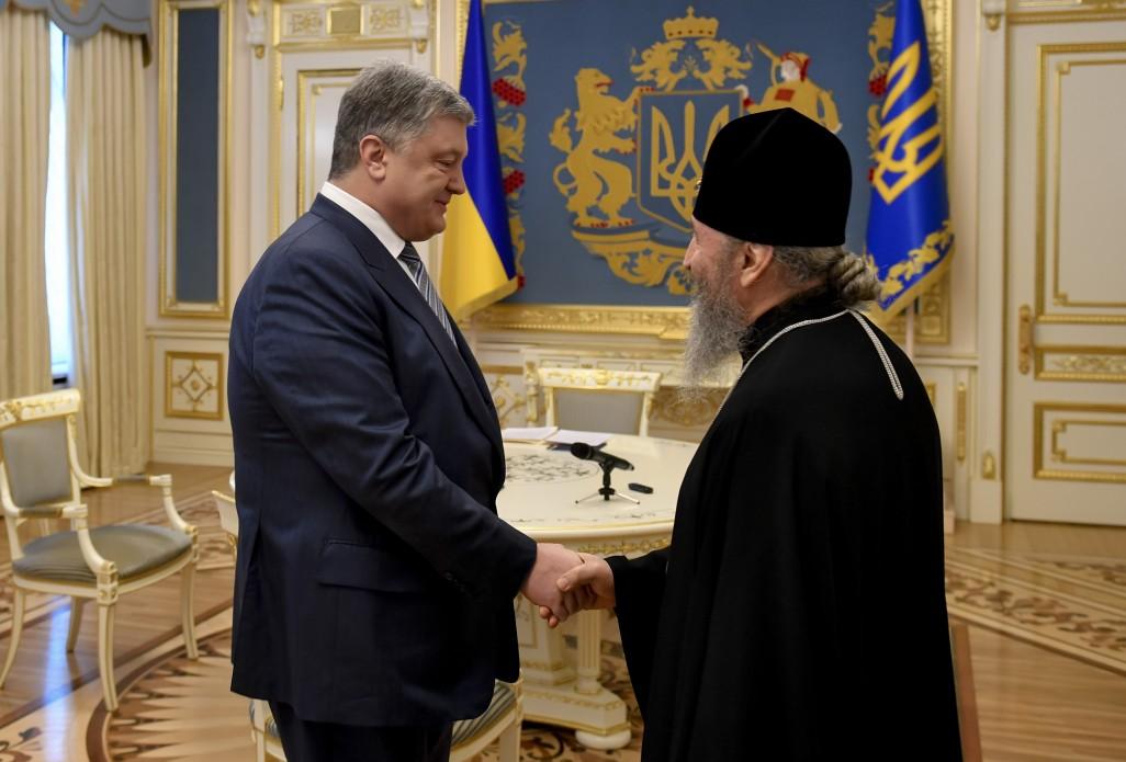 Встреча Петра Порошенко с Митрополитом Онуфрием
