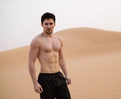 Павел Дуров показал голый торс