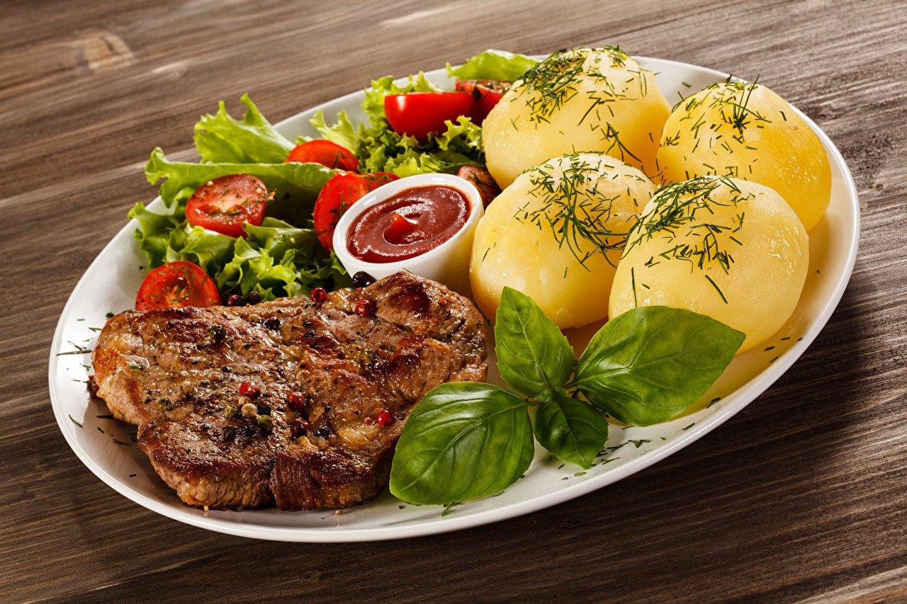 картофель_картошка_м'ясо_еда