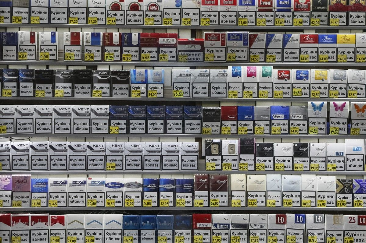 Сигареты в розничной продаже