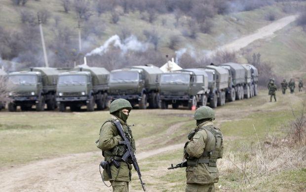 Россиские военые в Крыму