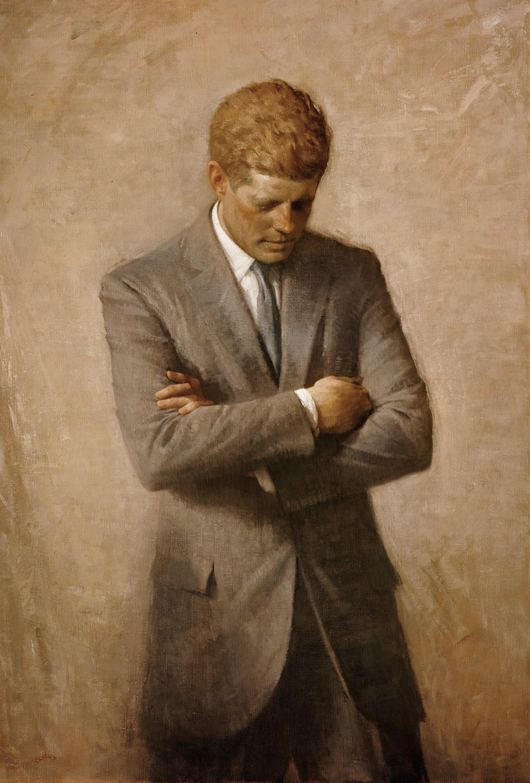 Посмертный портрет Дж. Кеннеди.