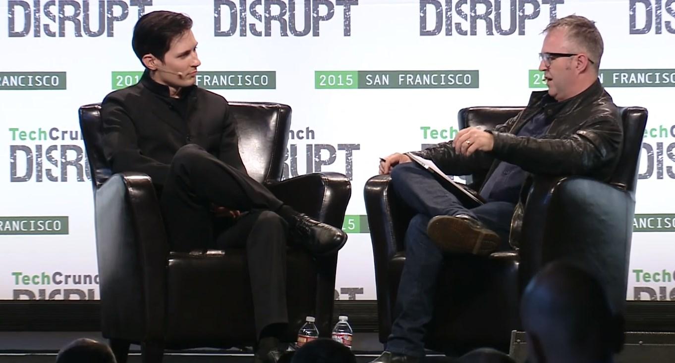 На конференции TechCrunch Дуров удивил публику своим заявлением о том, что