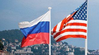 росія сша прапори