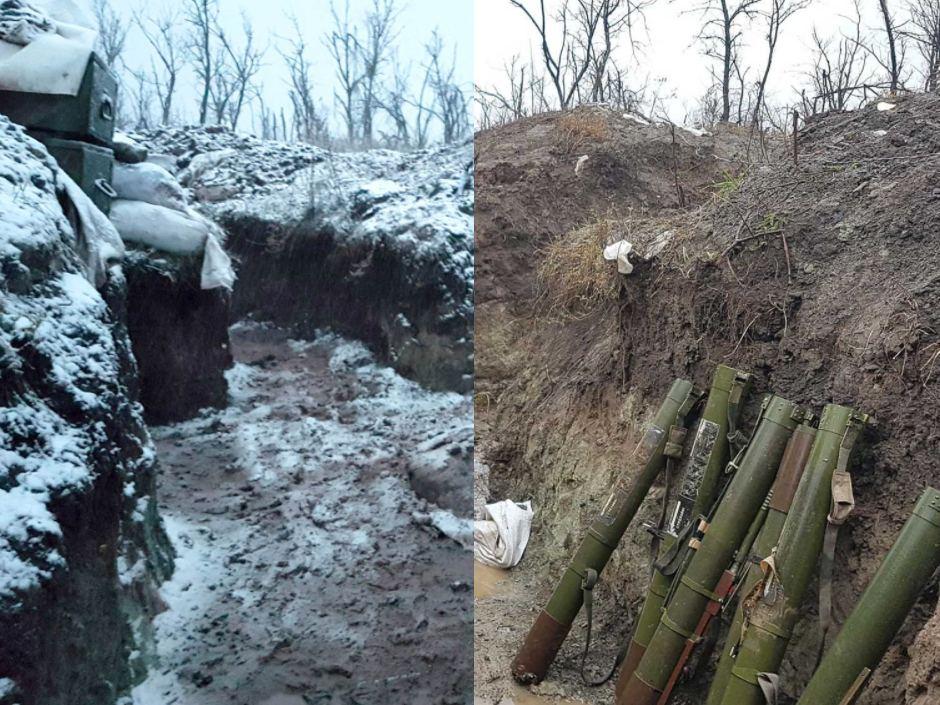 Война на Донбассе, согласно австралийцу, ведется в основном в заснеженных и грязных окопах. Фото: Итан Тиллинг/ABC