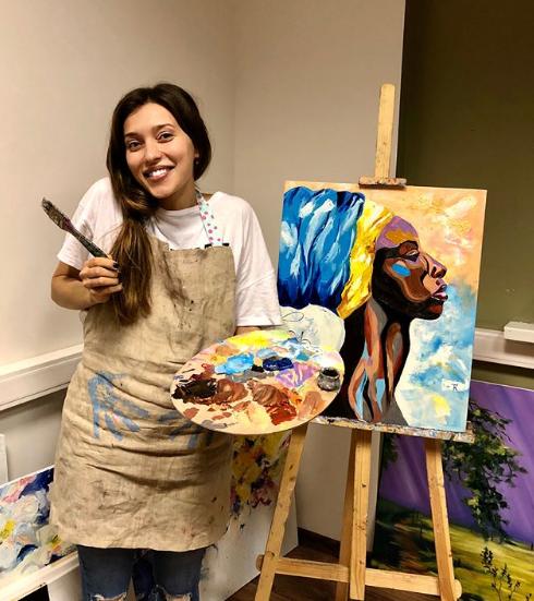 Регина Тодоренко начала заниматься живописью